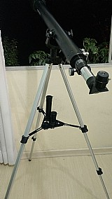 Telescopio azimutal 90060mm c/lente barlow ocular objetiva 60mm