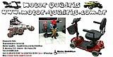 Cadeira de roda motorizada scooter bronze