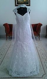 Vestido de noiva semi sereia,  branco,  novo,  pronta entrega