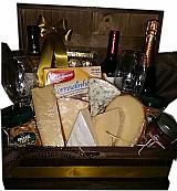 Cestas de queijos e vinho na lapa
