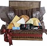 Cestas de queijos e vinho no brooklin