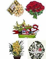 Contagem mg bouquet de flores,  cestas de cafe da manha e coroas de flores