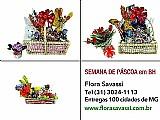 Semana santa entrega cesta de pascoa  em pedro leopoldo,  raposos,  ribeirao das neves,  rio acima,  rio manso,  sabara,  santa luzia,  sao joaquim de bicas,  sabara  mg