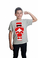 Minecraft skin power ranger camiseta algodao