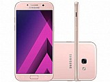 Smartphone samsung a7 2017 32gb rosa dual chip - 4g cam. 16mp   selfie 16mp 5.7