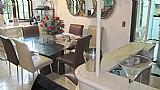 Mesa de jantar tampo em vidro c/ 8 cadeiras a venda