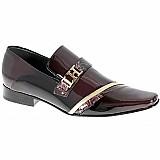 Sapato social masculino lhombre linha super luxo sola em couro
