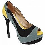 Sapato peep toe plataforma