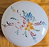 Cupula de vidro leitoso para teto,   detalhes flores,   (d 20cm x a 13,  5cm)