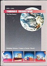 Thomas scientific 1991/1992,  helping science creat a better world