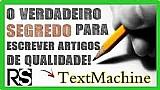 Textmachine - seja uma maquina de escrever artigos
