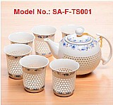 Sell glowing porcelain coffee & tea set: