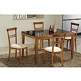 Sala de jantar 1, 05 x 80 (  60cm ) - 04 cadeiras