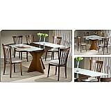 Sala de jantar 90 x 90 (   40cm elastica ) - 04 cadeiras