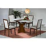 Sala de jantar 1, 05 x 1, 05 (   40cm elastica ) - 05 cadeiras