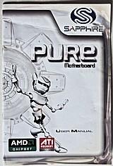 User manual saphire pure motheboard,  amd chipset,  ati radein grafics e cd instalacao original