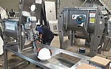 Misturador horizontal para corante
