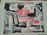 Abstrato preto e branco