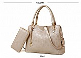 Kit bolsa e carteira feminina de luxo em pormocao