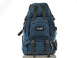 Mochila azul para camping 35 l promocao imperdivel.