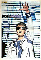 Justin bieber,  pôsteres coloridos paginas standard,  shows realizados no brasil