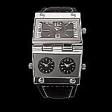 Relogio quartzo com pu pulseira de couro
