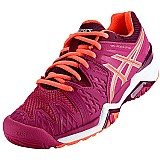 Tenis asics gel resolution 6 - vinho / rosa