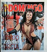 Viviane araujo,  rainha de bateria do salgueiro,  ddomingo 26-02-2017