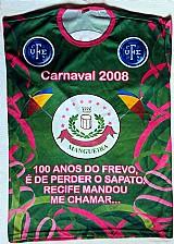 """100 anos frevo,  homenagem da estacao 1ª de mangueira,  camisa de seda """"exg"""",  rara para colecao"""