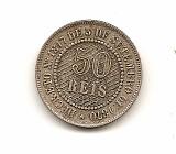 Moeda brasil 50 reis 1887.- 191 -