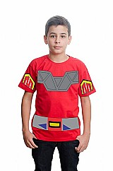Megazord power rangers camiseta customizada algodao