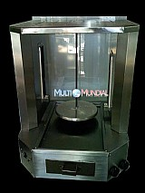 Maquina churrasco grego c/ espeto eletrico de balcao
