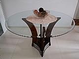 Mesa tampo de vidro 10mm temperado bisotadp