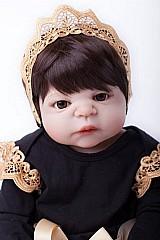 Bebe reborn menina corpo inteiro vinil silicone 55cm