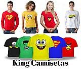 Camisetas personalizadas masculinas,   femininas e infantil