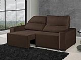 Sofa retratil reclinavel 3 lugares suede elegance - american confort