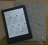 Capa para kindle ereader cor cinza em feltro ecologico (handmade da hz)