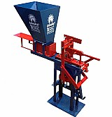 Maquina de tijolos ecologicos manual profissional 12,    5x25