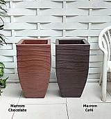 Vaso de planta moderno resina plastico polietileno 90x40