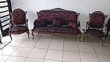 Conjunto de sofá e poltronas luís xv