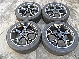 Focus ford titanium ghia roda original aluminio aro 17 preta pneu usado jogo p.fumagalli cpa mooca