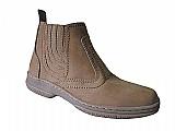 Bota de couro nobuck solado costurado botina country marca campolina