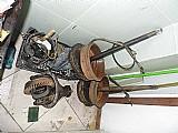 Diferencial da hunday galooper diesel ano 1998 usado completo original desmontado com todas as pecas inclusive tambores de freio