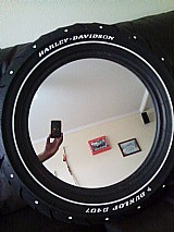 Espelho decorativo harley davidson