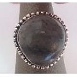 Anel de prata 925 pedra natural labradorita