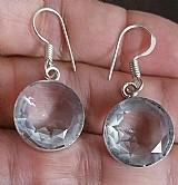 Brincos topazio branco em prata 925