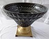 Vaso de centro de mesa com vidro grosso