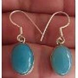 Brincos pedra azul calcedonia lindo