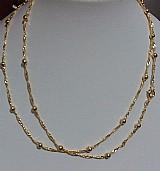 Colar bolinha elegante folheados a ouro 18 k lindo