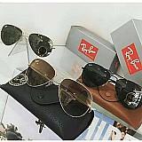 Ray ban aviador masc e fem e outros 100% originais